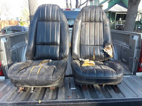 Photo 1975-81 camaro trans am bucket seats back seat - $200 (Topeka)