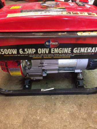 Photo 3500 Watt 6.5 HP Generator - $350 (Topeka)