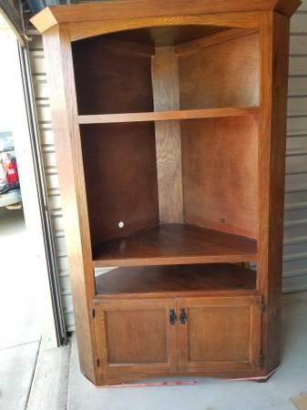 Photo Corner TV stand - $150 (Emporia, KS)