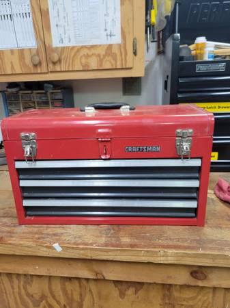 Photo Craftsman 3 drawer toolbox - $30 (TECUMSEH)