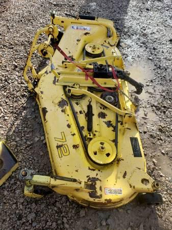 Photo Jonn Deere 955 finish belly mower..72 inch - $800 (Topeka)