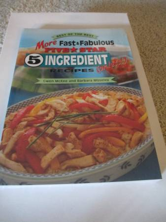 Photo New More Fast and Fabulous Five Star 5 Ingredient (or Less) Recipes - $8 (Shawnee)