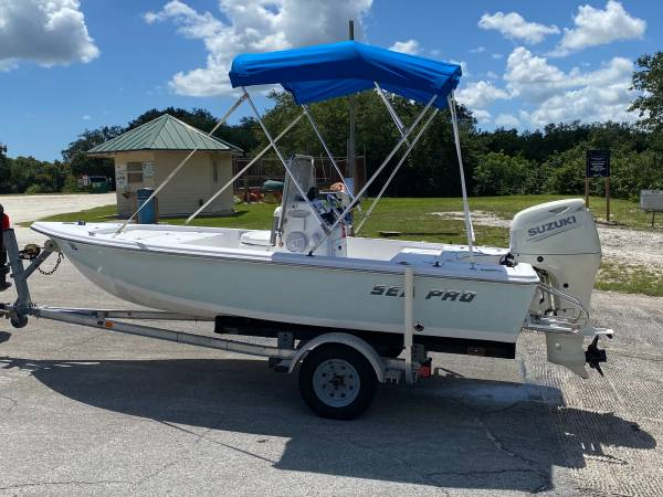 Photo 062020 Sea Pro 15.6 ft Suzuki 4 stroke Aluminum trailer - $14,999 (Port St Lucie)