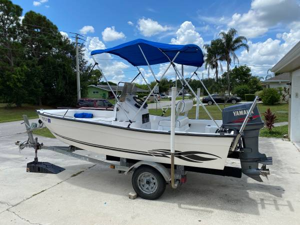 Photo 2000 16ft Key Largo center console. Yamaha 75 hp outboard with trailer - $7,500 (Port St Lucie)