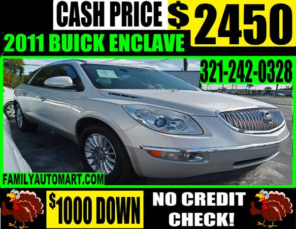 Photo 2011 BUICK ENCLAVE - 3 ROW LEATHER 7 PASSENGER - $2,450 (30 VEHICLES UNDER $2950)