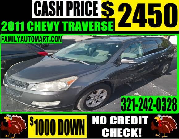 Photo 2011 CHEVY TRAVERSE - 3 ROW 8 PASSENGER - $2,450 (20 VEHICLES PRICED UNDER $2000)