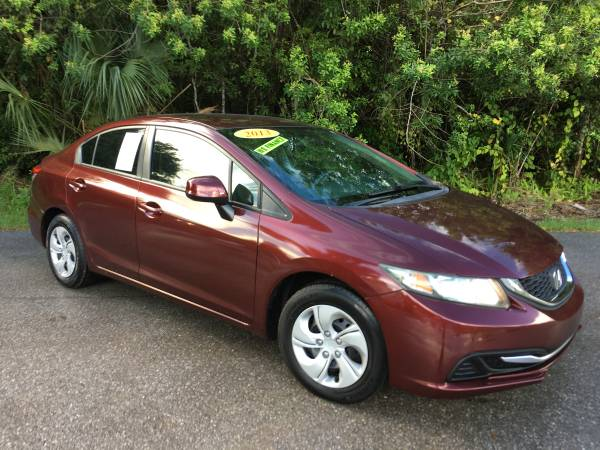 Photo 2013 HONDA CIVIC LX ONLY 92K MILES CLEAN TITLE WARRANTY YES - $10,600 (FINANCING AVAILABLE  PSL, FL WARRANTY)