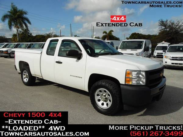 Photo Chevy Silverado 1500 4X4 EXTENDED CAB Pickup Pick up work Truck 4WD - $12800 (Towncarsautosales.com, Chevy Pickup)