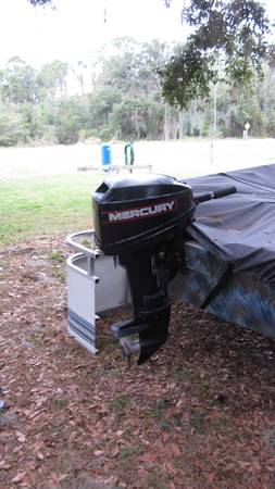 Photo Dingy 6hp motor of for jon boat, Excellent completely reserviced - $500 (LAKE PLACID)