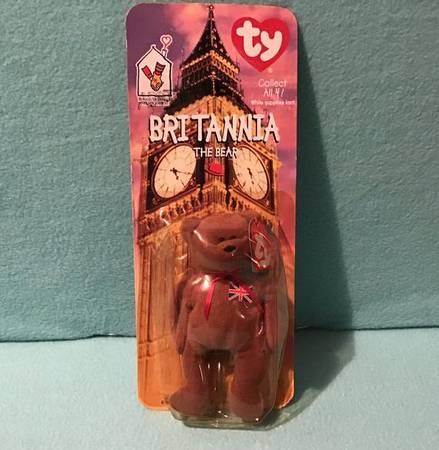 Photo McDonalds Ty Beanie Baby Britannia The Bear 1993 Tag Error RareHTF. (Fort Pierce)