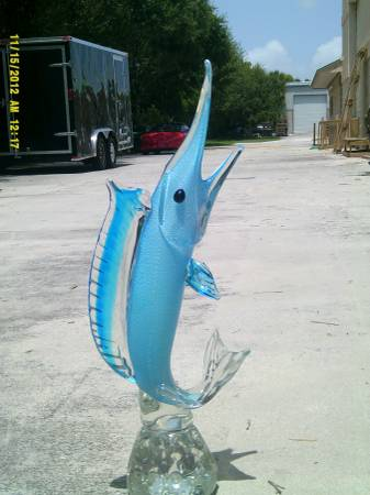 Photo Murano Glass Sailfish (Pic) - $350 (stuart)