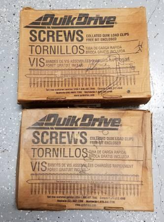 Photo QUIK DRIVE SCREWS 9 x 2 12quot 1500Box-2 Boxes - $45 (Fort Pierce)