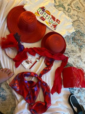 Photo Red hat society items. New or like new. (Vero Beach)