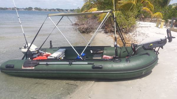 Photo aleko inflatable boat with trailer - $1,500 (Stuart)
