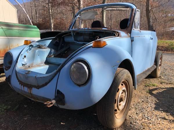 Photo 1979 Volkswagen Super Beetle Convertible Parts Car VW - $200 (Boone, Nc)