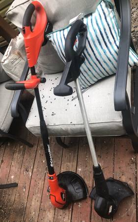 Photo 2 electric weedeaters, one corded, one battery - $25 (Telford)
