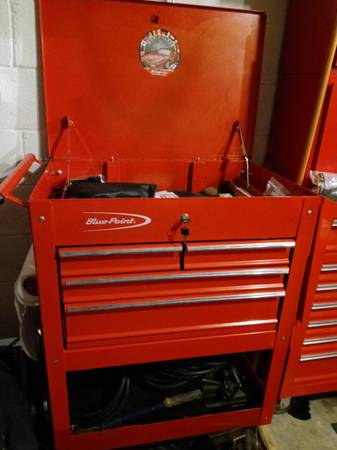 Photo Snap On Blue Point 4 Drawer Tool Cart - $495