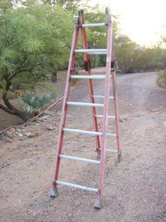 Photo 12 ft. Fiberglass Combination Ladder - $150