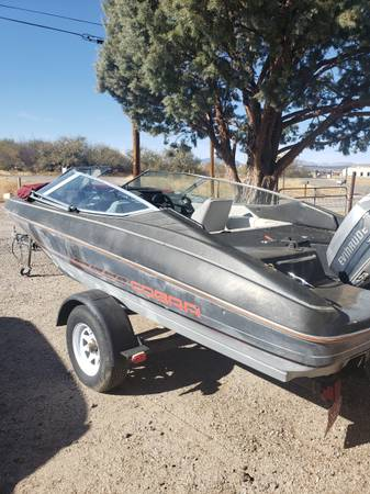 Photo 1990 19 ft cobra 90hp evenrude - $1,250 (Benson)