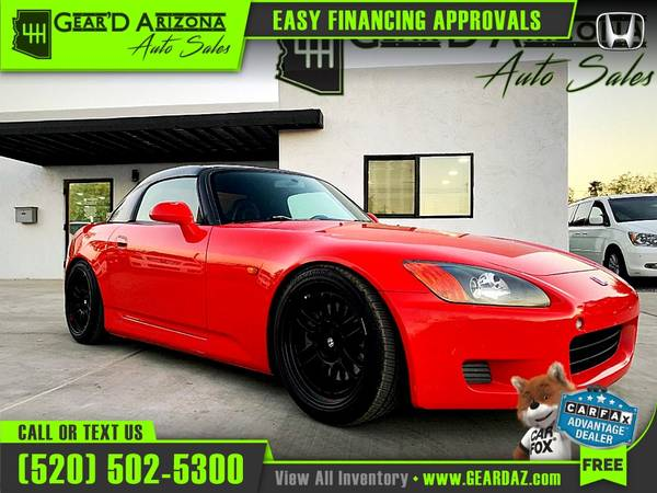 Photo 2002 Honda S2000 S 2000 S-2000 for $16,995 or $262 per month - $16,995 (GearD Arizona - Tucson)