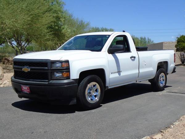 Photo 2014 CHEVY 1500 REGULAR CAB LONG BED WORK TRUCK WITH TOOL BOX - $12,995 (Phoenix FREE DELIVERY ANYWHERE IN ARIZONA)