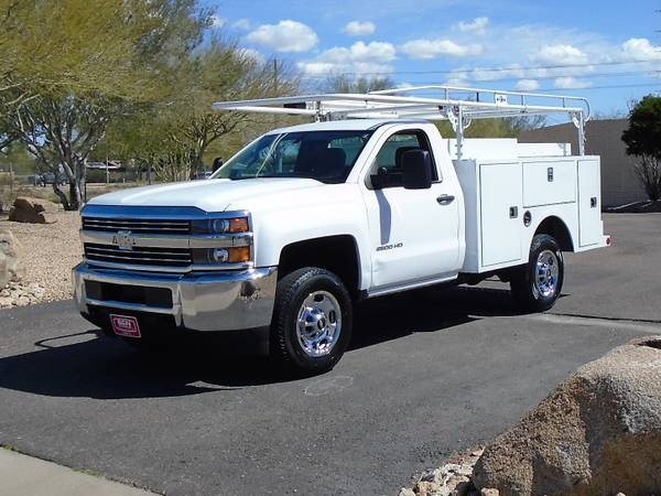 Photo 2015 CHEVY 2500 SERVICE BODY UTILITY BED WORK TRUCK WITH LADDER RACK - $13995 (Phoenix FREE SHIPPING ANYWHERE IN ARIZONA)