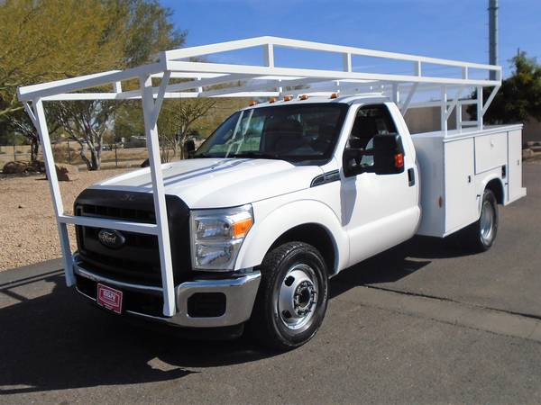 Photo 2015 FORD F350 XL REGULAR CAB UTILITY BED SERVICE BODY WORK TRUCK - $15995 (Phoenix FREE SHIPPING TO TUCSON)