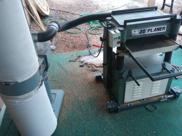 Photo 20 inch Grizzly planer  Delta Dust - $1750 (Tucson)