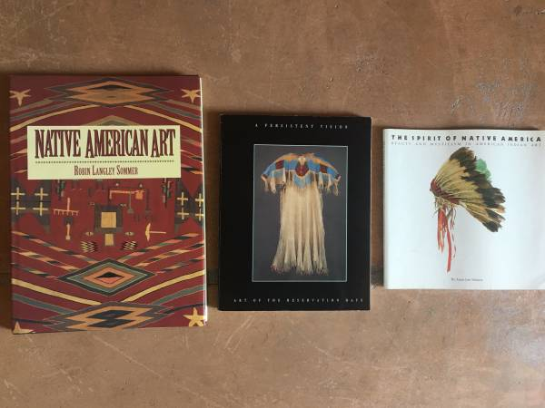 Photo 3 Books on Native American Indian Art, Clothing, Spirit - $30 (marana)