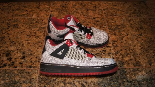 Photo Air Jordan Fusion AJF 4 - WhiteRed Laser - Size 6.5 Youth 8 Women39s - $40 (Northeast)