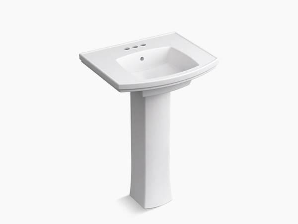 Photo Brand new Kohler Elliston Pedestal bathroom sink with 4quot centerset - $100 (Grant  l-10)