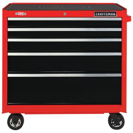 Photo CRAFTSMAN 2000 SERIES 37-IN. 5-DRAWER ROLLING TOOL CABINET - $230 (BroadwayCbell)