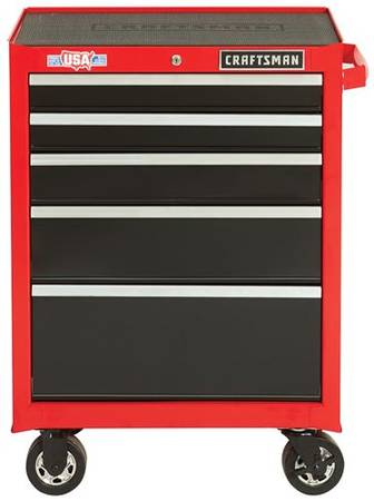 Photo CRAFTSMAN 26.5-in W x 37.5-in H 5-Drawer Steel Rolling Tool Cabinet - $235 (TucsonU Of A)