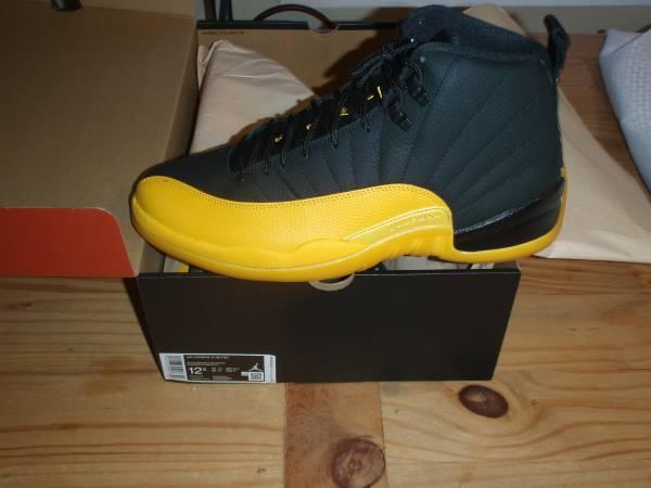 Photo DS Air Jordan Retro 12 - Black  University Gold - Size 12.5 - $260 (Northeast)