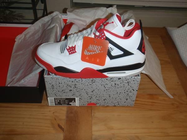 Photo DS Air Jordan Retro 4 Fire Red - Size 12.5 - $300 (Northeast)