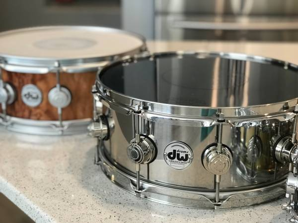 Photo DW collectors series Stainless Steel Snare - $350 (NW)