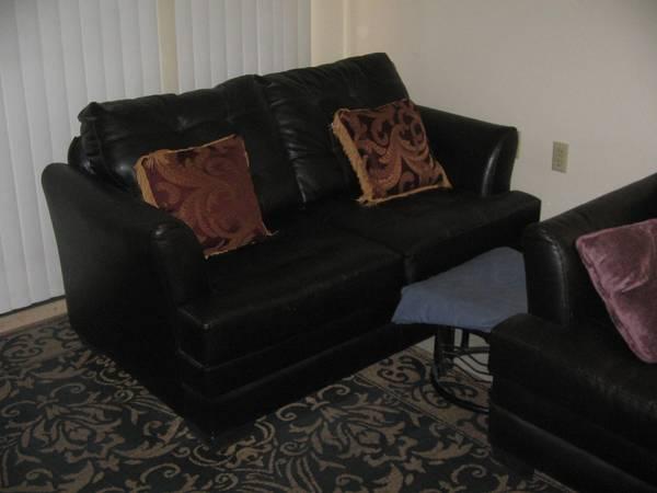 Photo Faux Leather Love Seat - $95 (Tucson, Az)