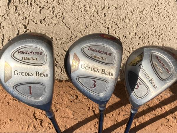 Photo Golden Bear Power Driver 1 with 3 wood  5 wood club all matched - $14 (Green Valley)