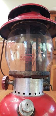 Photo Lantern, Coleman, Model 200A, red, 1965, original Coleman glass - $43 (Pima St and Country Club Rd)