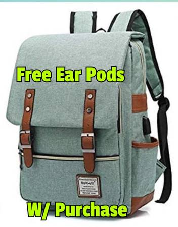 Photo Laptop Back Pack New in PKG See Pic description W Free Ear Pods - $25 (Tucson)