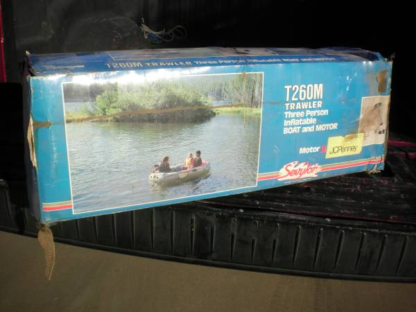 Photo NEW 3 Person Inflatable Boat with Motor - $99 (Mesa)
