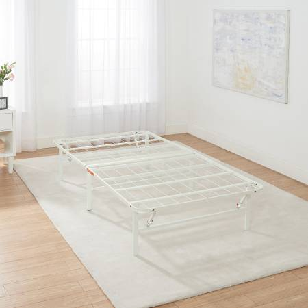 Photo New- Mainstays 14quot High Profile Foldable White Steel Bed Frame - $40 (Tucson)
