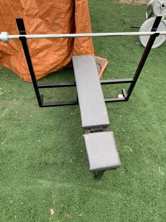 Photo Olympic weight bench press gym - $280