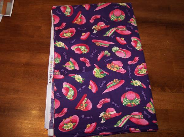 Photo Red hat fabric - $12 (east Tucson)