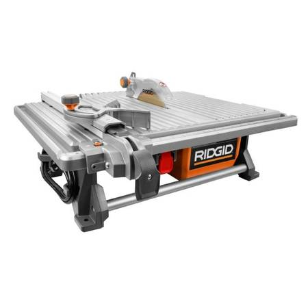 Photo Ridgid 6.5 Amp Corded 7 in. Table Top Wet Tile Saw - $150 (Tucson)