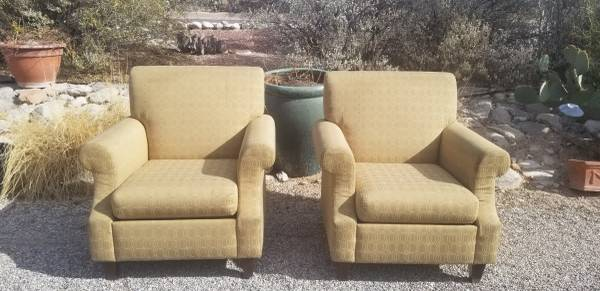 Photo Set of 2 Living Room Upholstered Armchair, gold - $100 (sabino canyon and cloud)