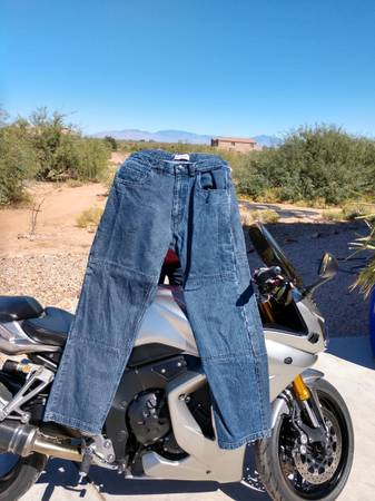 Photo Sliders Mens Motorcycle Jeans - Sz 36x34 - $35 (Sahuarita)
