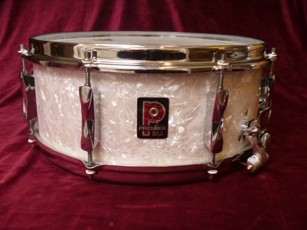 Photo Two Snare drums..Premier Pearl - $250200 (Green Valley)