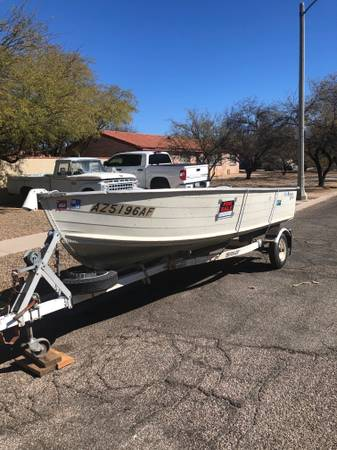 Photo aluminum boat and trailer for sale - $1,950 (Tucson)