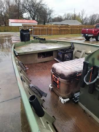 Photo 1860 Alumacraft Duck Boat 90 HP 4 stroke - $7,000 (Tulsa)